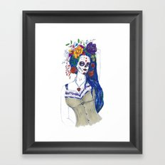 Scull Candy Lady Framed Art Print