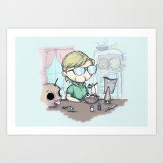 Breakfast With Jeffrey Art Print