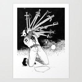 10 OF SWORDS Art Print