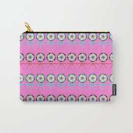 Girly lovely cute lollipop candy pattern. Rows of beautiful retro vintage lollipops with red ribbon Carry-All Pouch