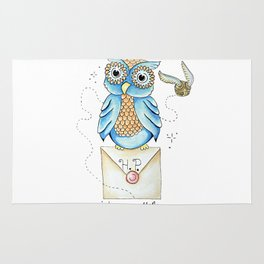 Harry Potter - Hedwig Owl and Golden Snitch Rug