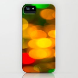 Colorful Bokeh Beautiful light #decor #society6 iPhone Case