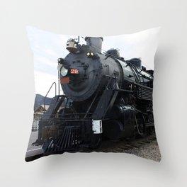 Vintage Railroad Steam Train Throw Pillow