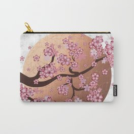 Blooming Sakura Branch on marble Carry-All Pouch