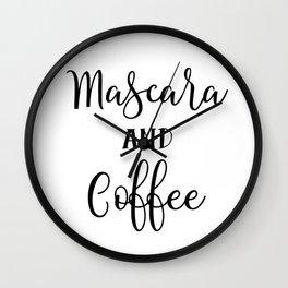 Mascara and coffee Wall Clock