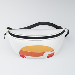 Vintage Retro 80s Dachshund Dog for Canine Friendly Families design Fanny Pack