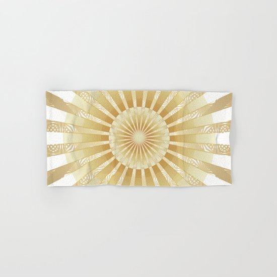 Golden Rays Mandala Hand & Bath Towel