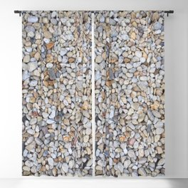 Beach Pebbles Blackout Curtain