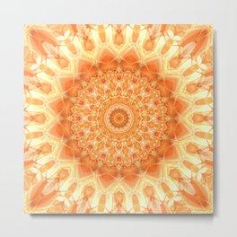 Mandala orange 2 Metal Print
