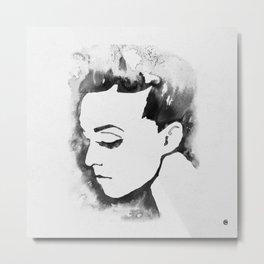 Portrait  (Ink Painting) Metal Print
