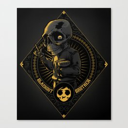 Goes to Skull Canvas Print