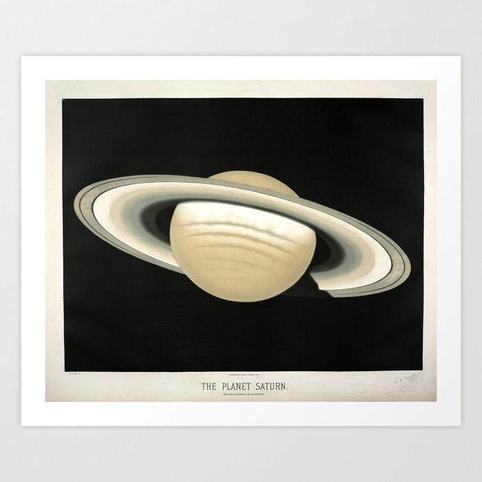 Saturn by Étienne Léopold Trouvelot (1874) Kunstdrucke