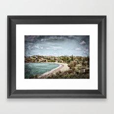 Living by the ocean Framed Art Print