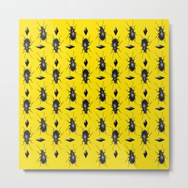 Beetle Stud Repeat Metal Print