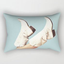 These Boots - Blue Rectangular Pillow