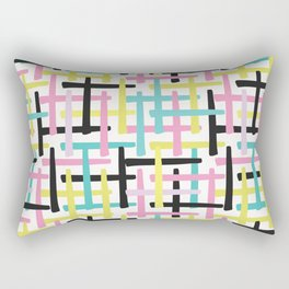 Criss Cross Weave Hand Drawn Vector Pattern Background Rectangular Pillow
