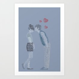 (500) Days of Summer Quote art Art Print