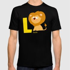 l for lion Black MEDIUM Mens Fitted Tee