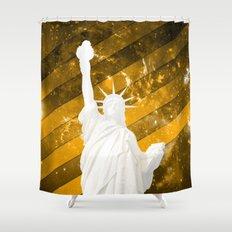 Liberty Gold Pop Art Shower Curtain