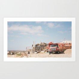 Ford Truck in Cape Verde Art Print