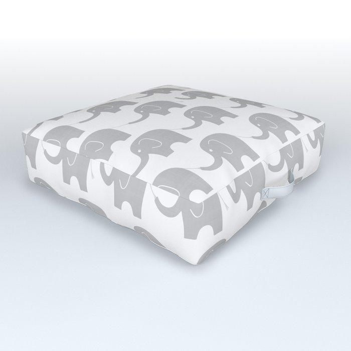 Grey Elephant Parade Outdoor Floor Cushion