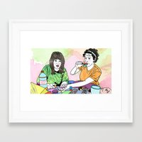 broad city Framed Art Prints featuring BROAD CITY by Essie Jean