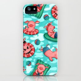 Summer Lovin' Pigs iPhone Case