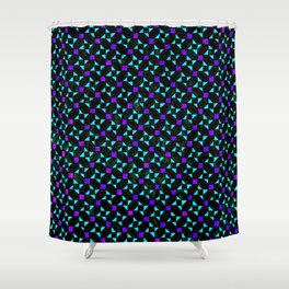 Purple and Light Blue Stars Shower Curtain