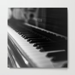 piano music aesthetic close up elegant mood art photography Metal Print