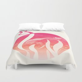 Pink Fire Alpaca by #Bizzartino Duvet Cover