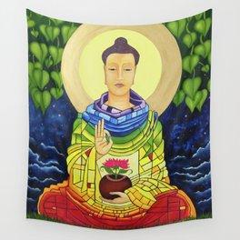 Rainbow Buddha Wall Tapestry