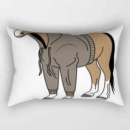 clothes of the horse Rectangular Pillow