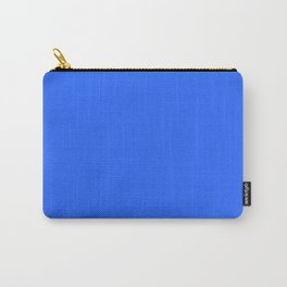 Ultra Marine Blue Solid Color Block Carry-All Pouch