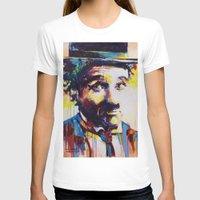 chaplin T-shirts featuring Charlie Chaplin by Marta Zawadzka