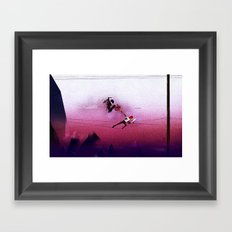 Ninja vs Pirate Framed Art Print