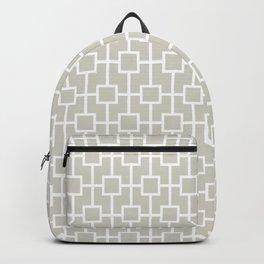 Wolf Gray Lattice Pattern Backpack