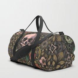 Skull in jungle Duffle Bag