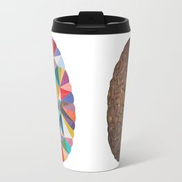 Geometric Brain Travel Mug