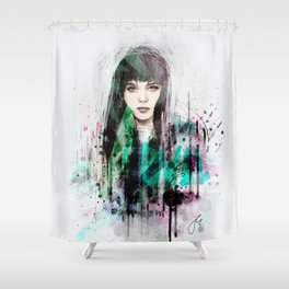 FASHION ILLUSTRATION 1 Shower Curtain