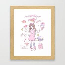 Pink Angel Framed Art Print