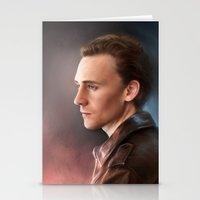 tom hiddleston Stationery Cards featuring Tom Hiddleston by EternaLegend