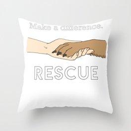 Animal Rescue - Paw Art (Light Edition) Throw Pillow