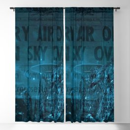 Mystery Air Objects Seen In The Sky Over LA Contemporary Art Portrait Blackout Curtain