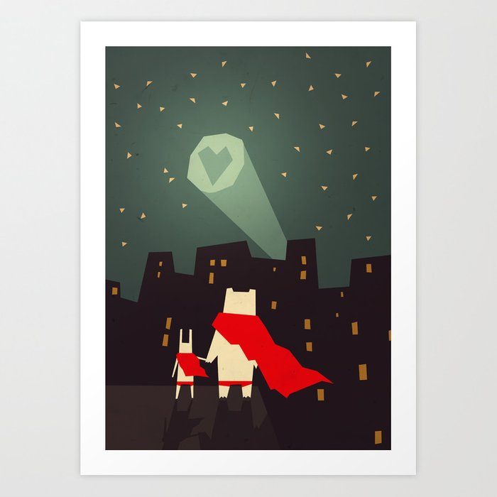 Discover the motif THE CITY NEEDS LOVE by Yetiland as a print at TOPPOSTER