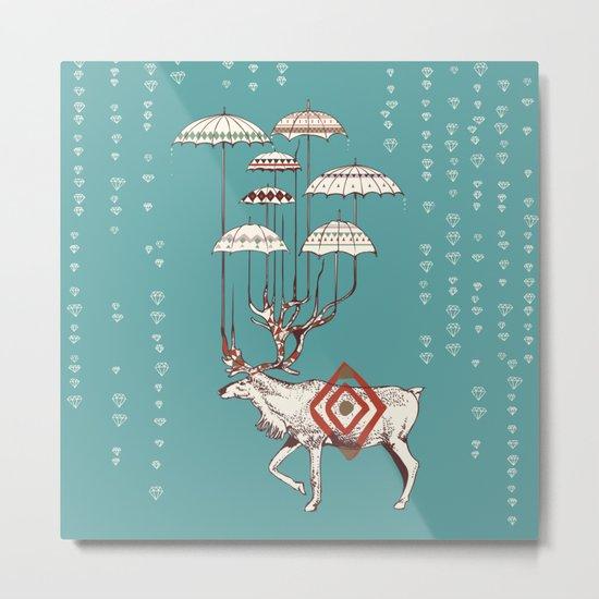 Rain Deer Metal Print