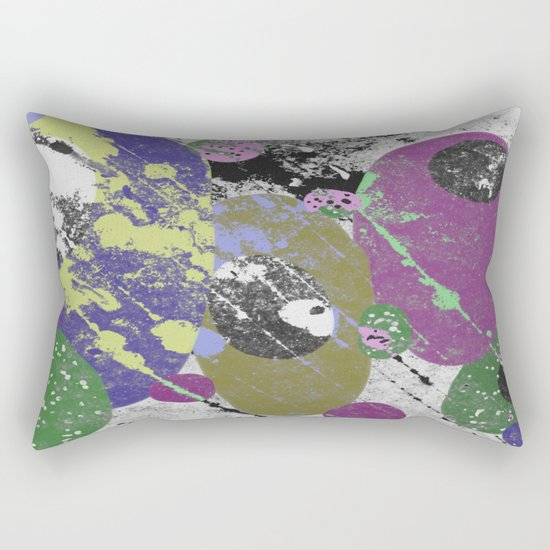 Gather Together - Abstract, pastel coloured, textured, artwork Rectangular Pillow