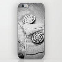 cassandra jean iPhone & iPod Skins featuring jean by McKenzie Nickolas