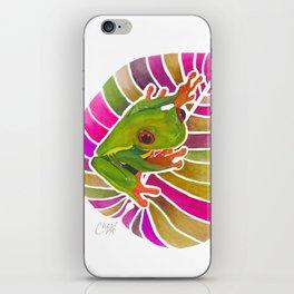Frog On A Leaf iPhone Skin