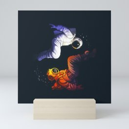 Yin Yang Astronaut Scuba Mini Art Print