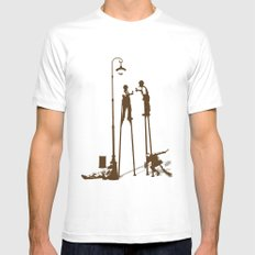 Higher level of sobriety White Mens Fitted Tee MEDIUM